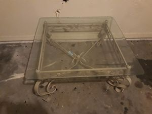 Metal Glasstop Coffee Table for Sale in Poinciana, FL