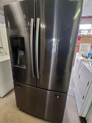 Brand new Samsung black stainless steel French door fridge for Sale in Ferndale, MI