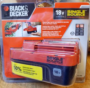 BLACK+DECKER 18-Volt 1.5-Amp Nickel Cadmium (Nicd) Power Tool Battery for Sale in Tualatin, OR