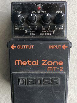 Boss Metal Zone Guitar Pedal MT-2 for Sale in Ventura,  CA