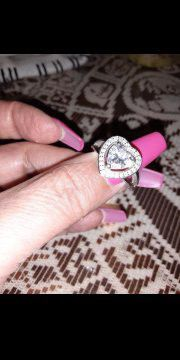 Sterling silver. heart ring size 7 for Sale in Fullerton, CA