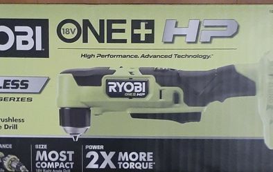 RYOBI 18v Compact Brushless 3/8 Right Angle Drill for Sale in Denver, CO