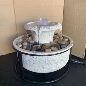 NEW $20 Homedics Mirra Euphoria Tabletop Relaxation Fountain Waterfall Water Light and Soothing Music Perfect for a Gift present birthday Christmas a for Sale in Ontario, CA