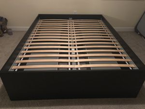 Queen Size Bed Frame w/ storage for Sale in Alexandria, VA