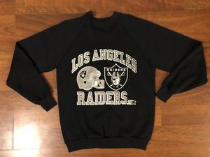 Vintage Los Angeles Raiders Crewneck Sweatshirt Men's Size Medium/Large for Sale in Westminster, CA