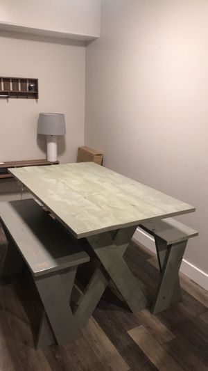 Table and two benches for Sale in Rexburg, ID