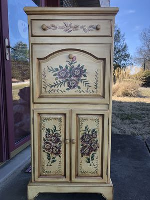 Unique hand-painted desk/cabinet perfect for a young girl for Sale in North Huntingdon, PA