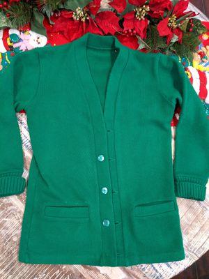 Vintage medium green cardigan for Sale in Rancho Cucamonga, CA