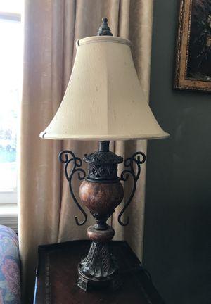 Beautiful metal work lamp - as good as new for Sale in Arlington, VA