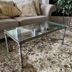 Metal & Glass Coffee Table for Sale in Auburn, WA