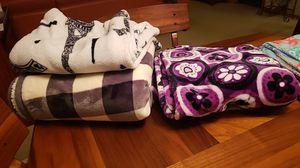 Fleece throw blankets-$5 each for Sale in Oregon City, OR