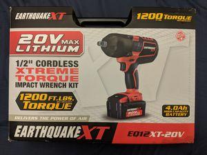 Earthquake 20v Impact Gun Wrench Kit for Sale in Rumson, NJ