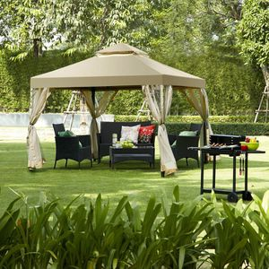 10ft x 10ft Backyard Gazebo Patio Furniture Tent Shelter Canopy Waterproof UV Protective for Sale in Sacramento, CA