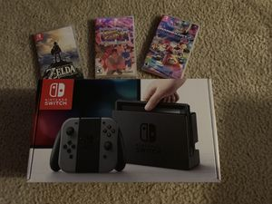Nintendo Switch and 3 games. No Trades for Sale in Tampa, FL