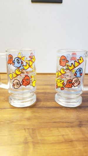 Used, Pac Man vintage 1980s glass mug for Sale for sale  Austin, TX