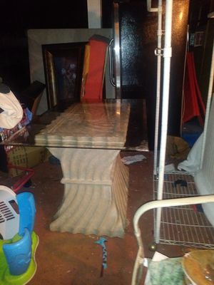 Stone glass table for Sale in Orlando, FL