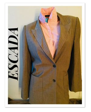 ESCADA BY MARGARETHA LEY PANT SUIT BLAZER PANTS PINSTRIPE WOMEN'S LADIE'S for Sale in Downey, CA