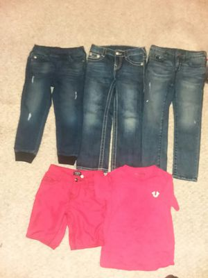 3 True Religion jeans waist size 5years and True Religion shorts and shirt 5years for Sale in Odenton, MD