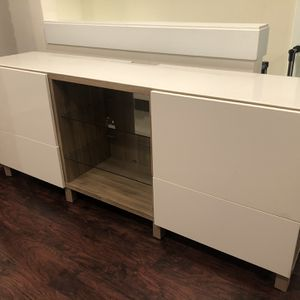 Glossy White TV Stand/Console Table for Sale in Beavercreek, OR