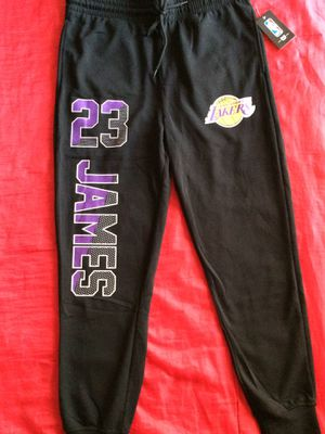 Official NBA Lakers Le Bron James Sweat Pants with Drawstring Large New with Tags for Sale in Long Beach, CA