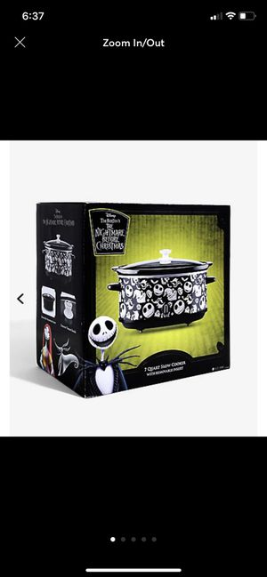 The Nightmare Before Christmas 7 Quart Slow Cooker for Sale in Bakersfield, CA