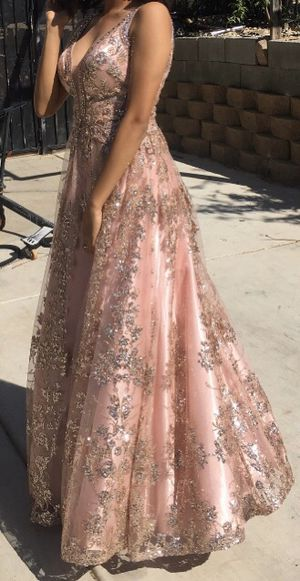 Pink and red prom dress for Sale in Littlerock, CA