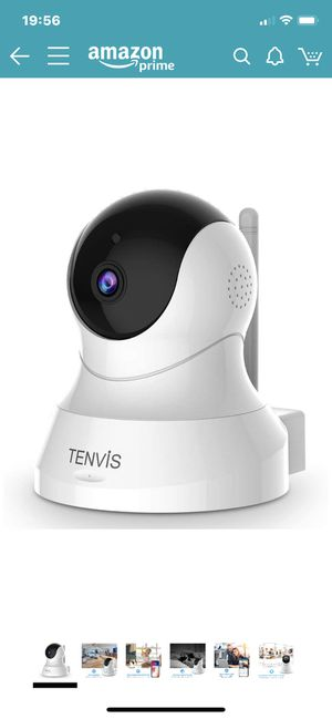 TENVIS Security Camera- Wireless Camera, IP Camera with Night Vision/ Two-way Audio, 2.4Ghz Wifi Indoor Home Dome Camera for Pet Baby, Remote Surveil for Sale in North Potomac, MD