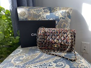 Beautiful Chanel bag tweed icon design for Sale in Brooklyn, NY