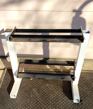 SMALL DUMBBELL WEIGHT RACK FITS 5-25LBS for Sale in Saginaw, TX