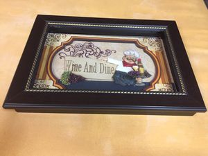 """Kitchen decor Wine and Dine frame 10""""x14"""" for Sale in Hacienda Heights, CA"""