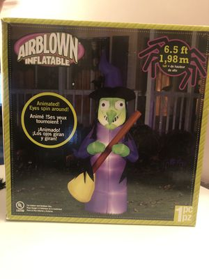 Animated inflatable witch with spinning eyes 6.5' brand new for Sale in Baldwin Park, CA