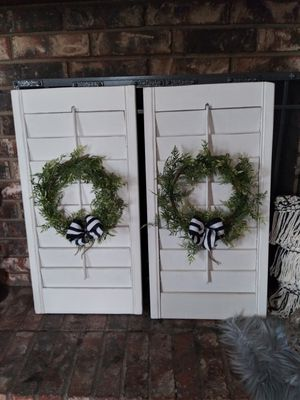 """pair of Rustic shutters wall decoration 31"""" tall by 16"""" wide for Sale in Mesquite, TX"""