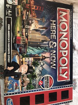 MONOPOLY HERE & NOW HASBRO BOARD GAME for Sale in Costa Mesa, CA