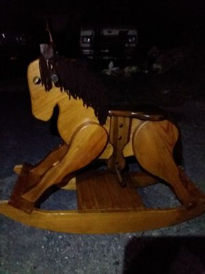 SOLID HARDWOOD ROCKING HORSE for Sale in Cardington, OH