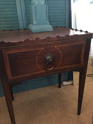 Antique dark wood end table for Sale in Oceanside, CA