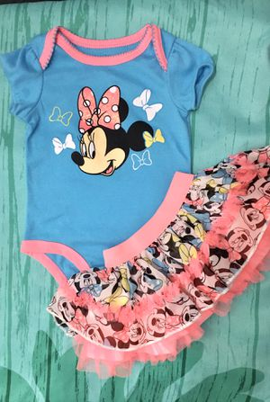 NEW Infant Baby Girl Disney Minnie Mouse Summer Tutu Outfit for Sale in Garden Grove, CA