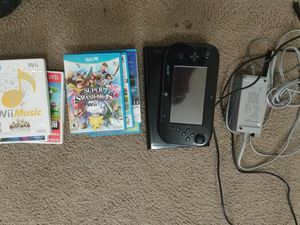 Nintendo Wii U with 8 games for Sale in Apopka, FL