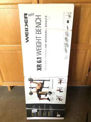 NEW Weider XR 6.1 Weight Bench for Sale in St. Charles, IL