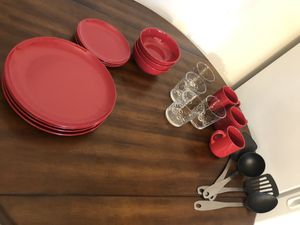 Dinner set with cups and kitchen utensils for Sale in Sterling, VA