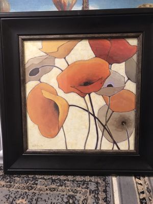 Pretty Framed Poppies for Sale in Seattle, WA