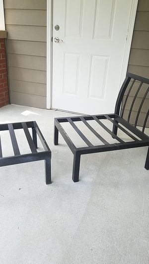 Patio furniture frame and a pillow for Sale in Hampton, GA