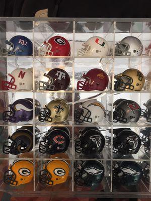 NFL & NCAA mini collectible football helmets for Sale in Wichita, KS