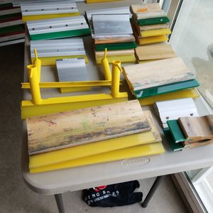 Screen printing squeegees and squeegee handles for Sale in North Tustin, CA