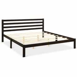 Platform Bed King Size Bed Frame Wood Slat Support for Sale in Walnut,  CA