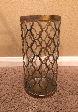 Brown Metal and Glass Candle Holder for Sale in Las Vegas, NV