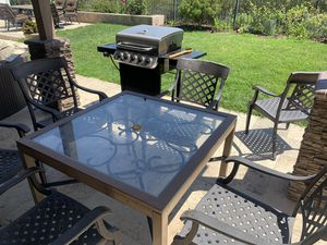 Iron Patio Table and 6 Chairs for Sale in San Juan Capistrano, CA