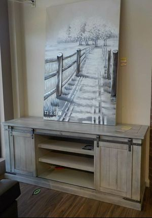 "🍾🍾 Best Offer ‼ Carynhurst Whitewash Large TV Stand | W755-48 60""W x 20""D x 30""H 88 for Sale in Jessup, MD"
