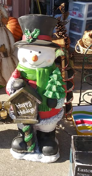 $25! Tall ceramic Happy Holidays snowman door greeter! for Sale in Antioch, CA