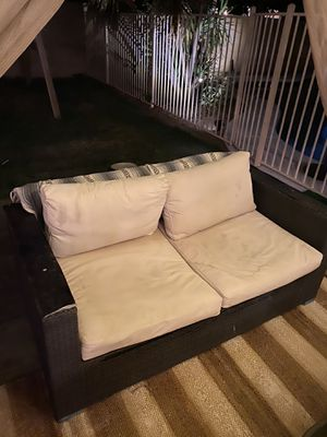 2 chairs, 1 couch wicker damaged but functional Outdoor furniture Patio furniture for Sale in Scottsdale, AZ