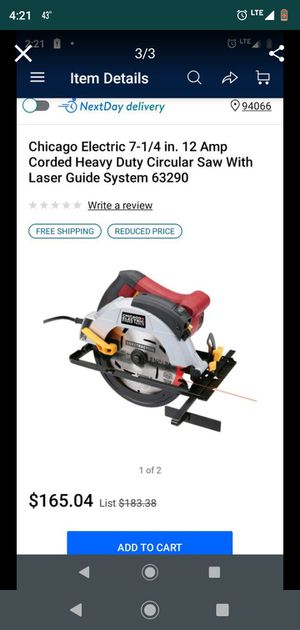 7 1/4 inch Laser Guided Circular Saw for Sale in Dundalk, MD
